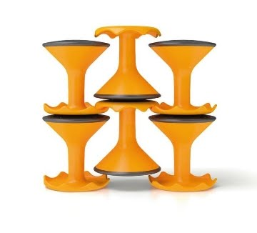 Hokki Stools are Stackable