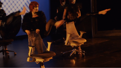 The Ballet of the Dolls and Herman Miller SAYL Chair