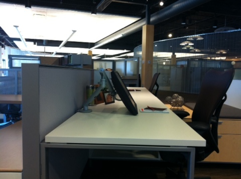 Herman Miller Canvas with Flo Monitor Arm