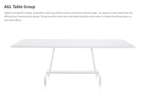AGL Table has a great base that is interesting to the eye and extremely functional for all types of gatherings.