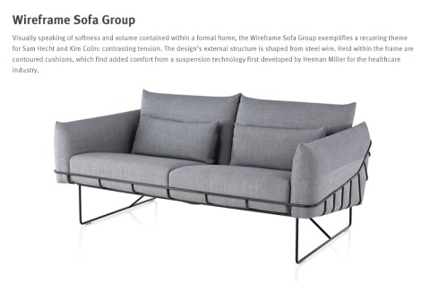 Wire Frame Sofa Group. Great lines and great comfort.