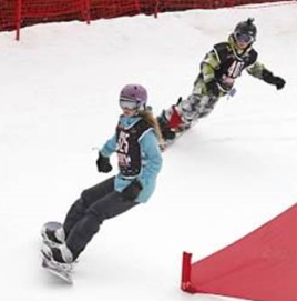 Danielle snowboarding