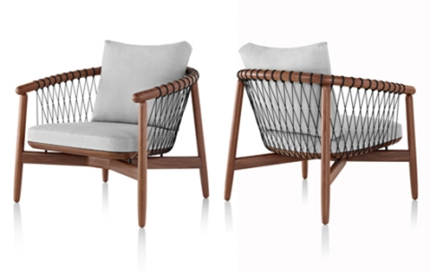 Clear crosshatch chair image